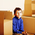 little cute boy in empty room remoove to new house home alone lifestyle people concept stock photo © iordani