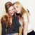 best friends teenage girls together having fun posing emotional stock photo © iordani
