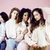 glimlachend · vrouwen · roze · poseren · borstkanker · bewustzijn - stockfoto © iordani