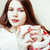 young pretty brunette girl in christmas ornament blanket getting warm on cold winter freshness beau stock photo © iordani