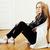 młodych · dość · blond · dziewczyna · posiedzenia - zdjęcia stock © iordani