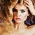 portret · mooie · blond · meisje · make-up - stockfoto © iordani