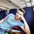 young pretty modern hipster guy traveller on train with skateboa stock photo © iordani