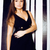portret · gelukkig · meisje · zwarte · jurk - stockfoto © iordani