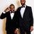 kettő · üzletemberek · fekete · öltönyök · érzelmes · pózol - stock fotó © iordani