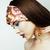 make · nagels · schoonheid · meisje · portret · rode · lippen - stockfoto © iordani