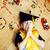 little cute preschooler boy among toys lego at home education in graduate hat smiling posing emotion stock photo © iordani