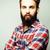 小さな · ハンサム · ヒップスター · 生姜 · あごひげを生やした · 男 - ストックフォト © iordani