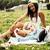 női · barátok · kettő · piknik · kint · nevet - stock fotó © iordani