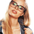 young pretty girl teenager in glasses on white isolated blond ha stock photo © iordani