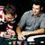erkekler · poker · tablo · kumarhane · el · kart - stok fotoğraf © iordani