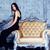 portre · çekici · kadın · Retro - stok fotoğraf © iordani