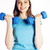 young pretty slim woman with dumbbell isolated cheerful smiling real sport girl next door lifestyl stock photo © iordani