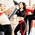 women doing sport in gym jumping healthcare lifestyle people concept modern loft studio stock photo © iordani