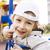 kicsi · aranyos · fiú · játszik · játszótér · akasztás - stock fotó © iordani
