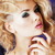 genç · sarışın · kadın · sihir · makyaj · dalgalar - stok fotoğraf © iordani