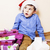 pequeno · menino · caixas · de · presente · cara · olhos - foto stock © iordani