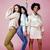 drie · verschillend · natie · meisjes · huid · haren - stockfoto © iordani