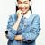 fiatal · csinos · ázsiai · nő · pózol · derűs - stock fotó © iordani