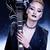 fashion rocker style model girl portrait hairstyle punk woman makeup hairdo and black nails smok stock photo © iordani