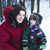 young happy father with his son little cute boy outside in winter park lifestyle people concept stock photo © iordani