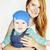 portré · gyönyörű · fiatal · nő · fiú · párbeszéd · fehér - stock fotó © iordani