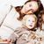 mooie · echt · mode · moeder · cute · blond - stockfoto © iordani
