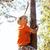 chłopca · wspinaczki · drzewo · młody · chłopak · liściastych · pokryty - zdjęcia stock © iordani