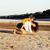 grupo · feliz · amigos · océano · playa - foto stock © iordani