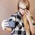 csinos · szőke · nő · pózol · csődör · barna - stock fotó © iordani