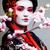 小さな · かなり · 芸者 · 黒 · 着物 · 桜 - ストックフォト © iordani