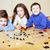 komik · sevimli · çocuklar · oynama · lego · ev - stok fotoğraf © iordani