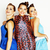 group of diverse stylish ladies in bright dresses isolated on wh stock photo © iordani