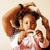 genç · güzel · şık · anne · küçük · sevimli - stok fotoğraf © iordani