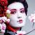 fiatal · csinos · gésa · fekete · kimonó · sakura - stock fotó © iordani