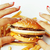 nul · zwaartekracht · hamburger · handen · bouw · home - stockfoto © iordani