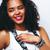 молодые · довольно · афроамериканец · женщину · изолированный · белый - Сток-фото © iordani