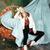 retro · mujer · marco · de · imagen · cara · moda · pintura - foto stock © iordani