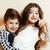 gêmeo · bebê · irmão · irmã · menina · olhos - foto stock © iordani