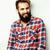 портрет · молодые · бородатый · парень · улыбаясь - Сток-фото © iordani