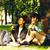 aranyos · csoport · épület · egyetem · könyvek · mosolyog - stock fotó © iordani