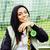 serin · güzel · gülen · mutlu · genç · kadın · paten - stok fotoğraf © iordani