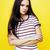 moda · kız · sarı · portre - stok fotoğraf © iordani