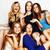 grupo · diverso · elegante · senhoras · brilhante · vestidos - foto stock © iordani