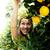 bastante · Islam · mujer · naranja · arboleda · sonriendo - foto stock © iordani