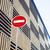 stop sign near new parking building empty street nobody concept stock photo © iordani