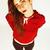 real · caucásico · mujer · peinado · funny · alegre - foto stock © iordani