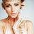 nőies · gyengédség · portré · nő · arany · lány - stock fotó © iordani