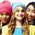 幸せ · 笑みを浮かべて · 国家 · 女の子 · グループ - ストックフォト © iordani