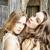 kettő · csinos · iker · lánytestvér · szőke · fürtös - stock fotó © iordani